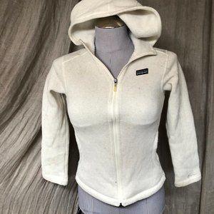 patagonia cream hoodie sweater zip up jacket 10GRL